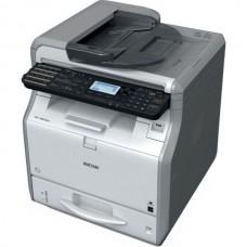 Монохромное светодиодное МФУ Ricoh SP 3610SF (A4, 512Мб, 30 стр/мин, дуплекс, факс, LAN, PS, SPDF35, старт.картридж 1500 стр.)