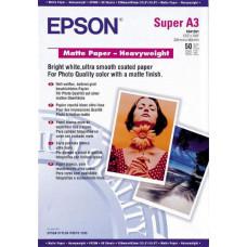 41264 Матовая фотобумага EPSON Matte Paper-Heavyweight A3+ (50 л., 167 г/м2) (C13S041264)