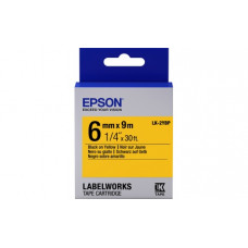 652002 Картридж EPSON с лентой LK2YBP (пастельная 6мм, Желт./Черн.) (C53S652002)