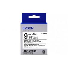 653007 Картридж EPSON с лентой LK3WBW (лента повышенной адгезии 9мм, Бел./Черн.) (C53S653007)