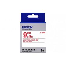 653008 Картридж EPSON с лентой LK3WRN (лента стандартная 9мм, Бел./Красн.) (C53S653008)