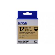 654001 Картридж EPSON с cатиновой лентой LK-4KBK (12мм, Золотая/Черн., 5м) (C53S654001)