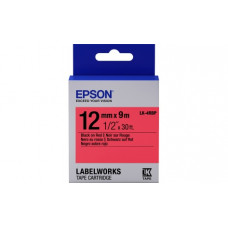 654007 Картридж EPSON с лентой LK-4RBP (лента пастел. черн./красн. 12/9) (C53S654007)