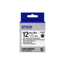 654012 Картридж EPSON с лентой LK4TBN (лента прозрачная 12мм, Прозр./Черн.) (C53S654012)