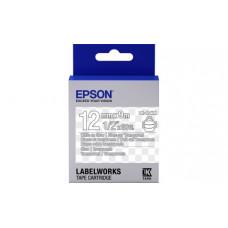 654013 Картридж EPSON с лентой  LK4TWN (лента прозрачная 12мм, Прозр./Бел.) (C53S654013)