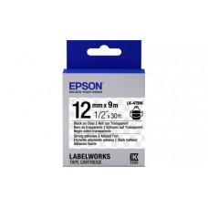654015 Картридж EPSON с лентой LK-4TBW (лента повышенной адгезии 12мм, Прозрач./Черн. для LW-300/400/400VP/700/900P) (C53S654015)