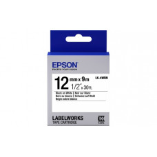654021 Картридж EPSON с лентой LK4WBN (лента стандартная 12мм, Бел./Черн.) (C53S654021)