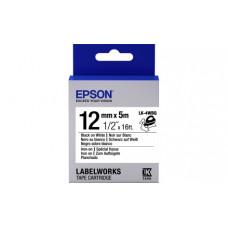 654024 Картридж EPSON с лентой LK-4WBQ (лента термоклейкая Iron on 12мм, Бел./Черн.) (C53S654024)