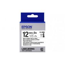654025 Картридж EPSON с лентой LK4WBH (лента термоустойчивая 12мм, Бел./Черн.) (C53S654025)