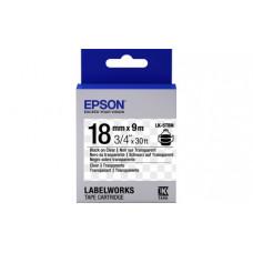 655008 Картридж EPSON с лентой LK5TBN (лента прозрачная черн./прозр. 18/9) (C53S655008)