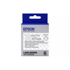 655009 Картридж EPSON с лентой LK5TWN  (лента прозрачная 18мм, Прозр./Бел.) (C53S655009)